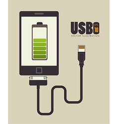 Usb design vector