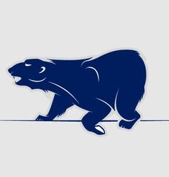 Wild bear walking icon vector