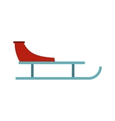 Sleigh icon flat style vector image