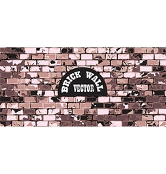 Wall brick vintage background vector