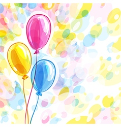 Background with three balloons vector image