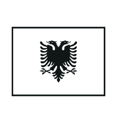 Flag of albania on white background vector