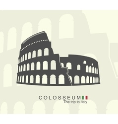 Roman colosseum isolated vector