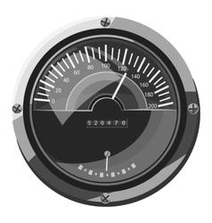 Large round speedometer icon vector image