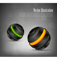 Background with two spheres vector image
