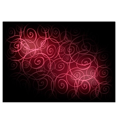 Red vintage wallpaper with spiral pattern vector