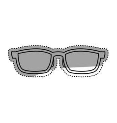 Sunglasses shades black vector