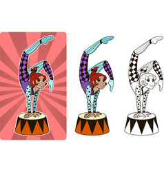 Timer circus character female vector