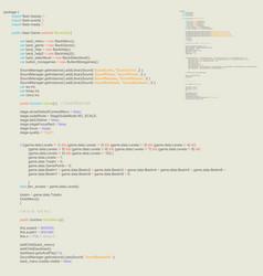 Program code listing abstract programming vector