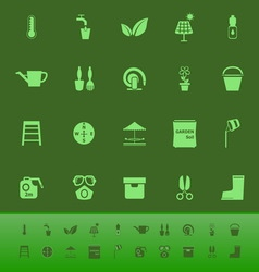 Home garden color icons on green backgroundai vector