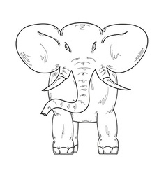 sketch of the elephant vector image