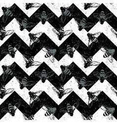 Grunge chevron seamless pattern vintage design vector