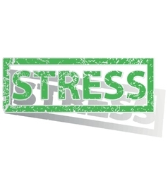 Green outlined stress stamp vector