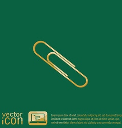 Paper clip icon a symbol of office vector