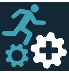 Treatment process icon vector