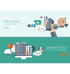 Flat background coding vector