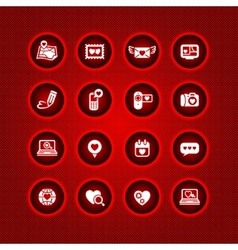 Set valentines day icons love on the internet sign vector