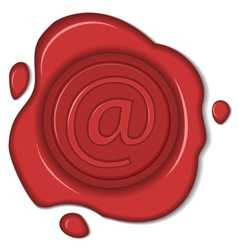Wax seal email sign isolated vector
