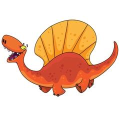 dinosaur dimetrodon vector image