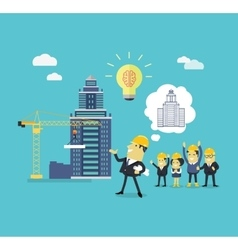 Implementation ideas architect vector