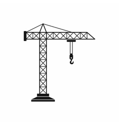 Construction crane icon simple style vector
