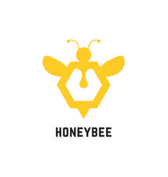 Abstract honey bee sign vector