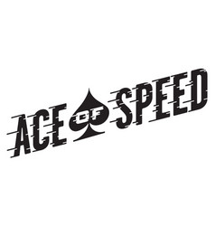ace of speed retro design vector image vector image