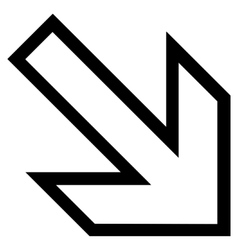 Arrow right down stroke icon vector