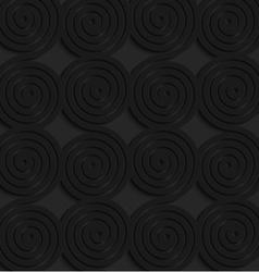 Black 3d connecting spirals vector image