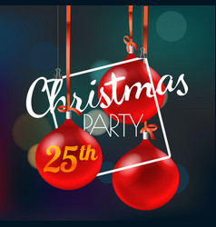 Christmas party announcement merry christmas and vector