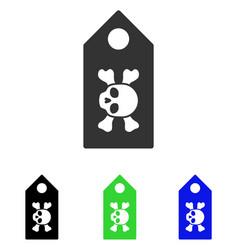 death label flat icon vector image vector image