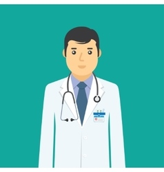 Doctor flat medical icon vector