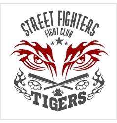 Fighting club emblem - tiger eye labels badges vector