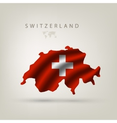 Flag of Switzerland as a country vector image vector image