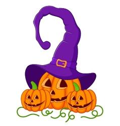 Funny Halloween pumpkin vector image