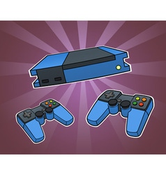 Game console vector image vector image