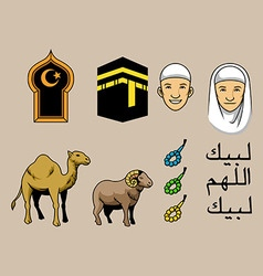 Hajj theme stock color vector