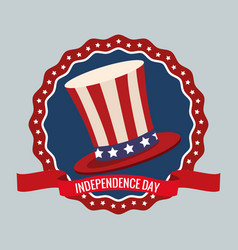 independence day united states memorial party vector image vector image