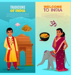 india vertical banners set vector image