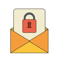 Message envelope icon image vector