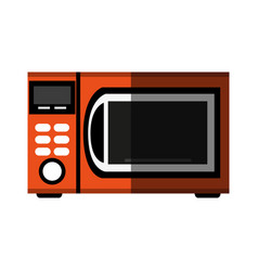 Microwave oven icon image vector