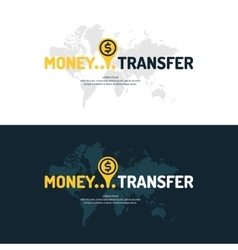 Modern money transfer poster and logo pointer vector image vector image
