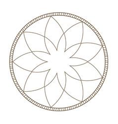 Outline flower frame natural decoration delicate vector