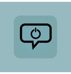 Pale blue power message icon vector
