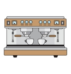 Professional coffee machine metallic colors in a vector
