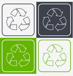 Recycled paper symbol vector