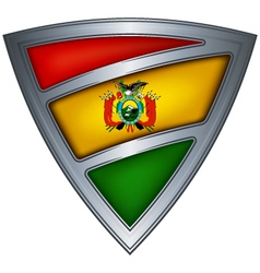 steel shield with flag bolivia vector image vector image