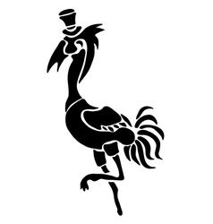 Tattoo of a stork vector image