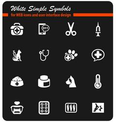 Veterinary clinic icon set vector