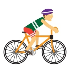Boy Wearing Protective Helmet While Riding a Bike vector image